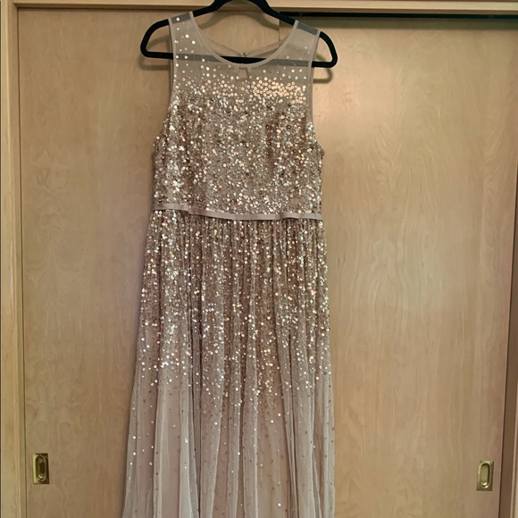 035ca43f7311 Jenny Packham Dresses | Floor Length Blush Sequin Dress | Poshmark